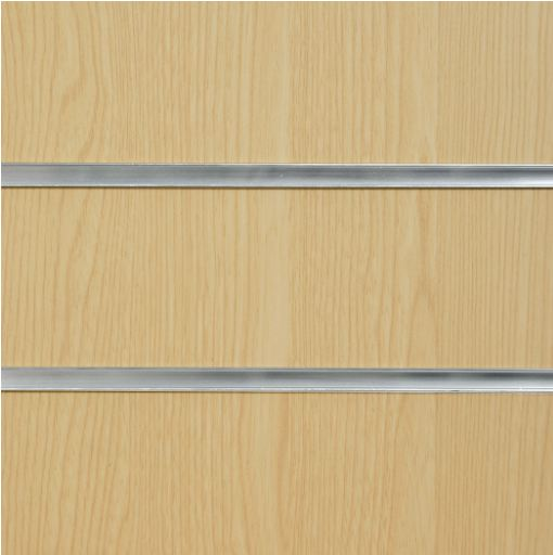 1008 Ash Slatwall Panel 8ft x 4ft (2400mm x 1200mm)