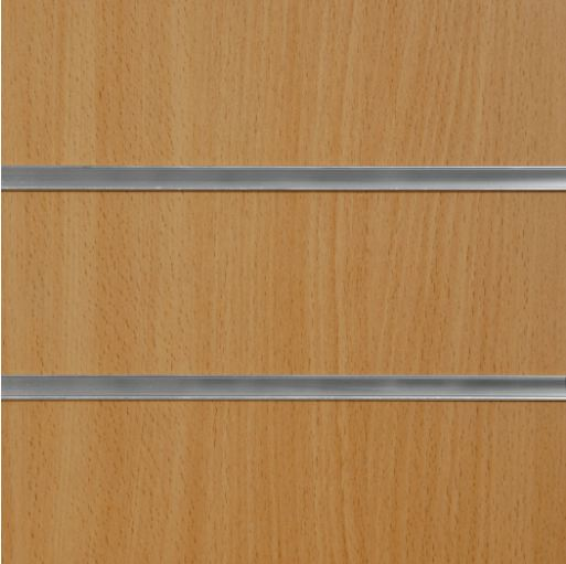 1010 Beech Slatwall Panel 8ft x 4ft (2400mm x 1200mm)