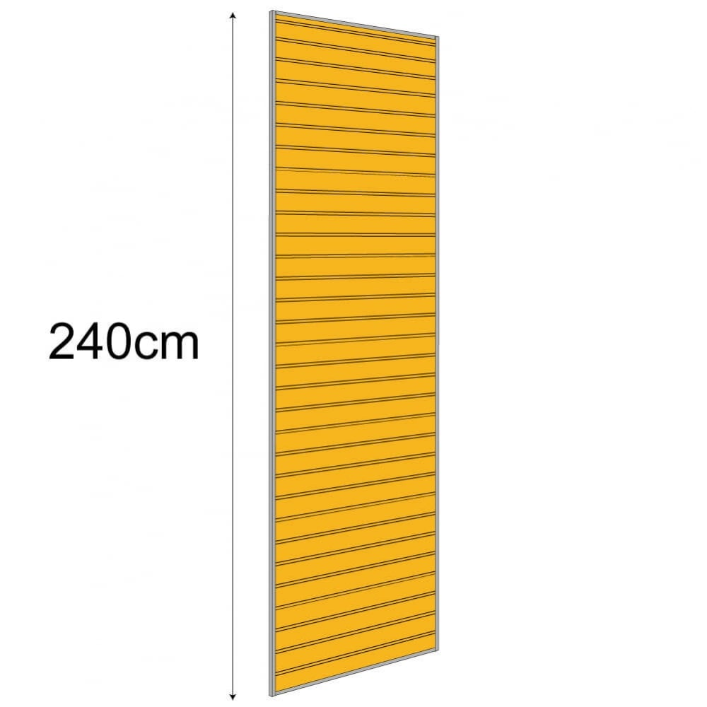 Lightweight Exhibition Slatwall Display 2400mm x 950mm (PVC)