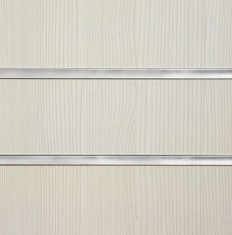 1001A Pino White Slatwall Panel 8ft x 4ft (2400mm x 1200mm)