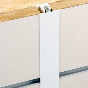 Silver Slatwall Joining Sections (H-Sections)