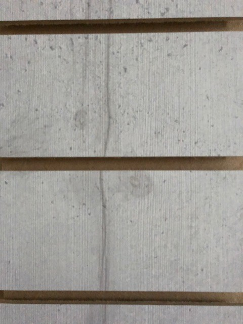 Light Concrete Effect Melamine MDF Slatwall Panel 4ft x 4ft  (1200mm x 1200mm )